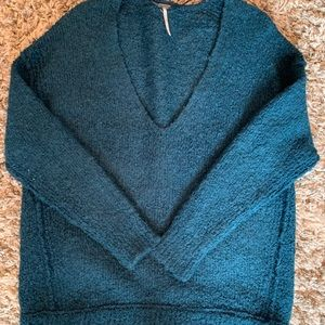 Turquoise oversized free people sweater